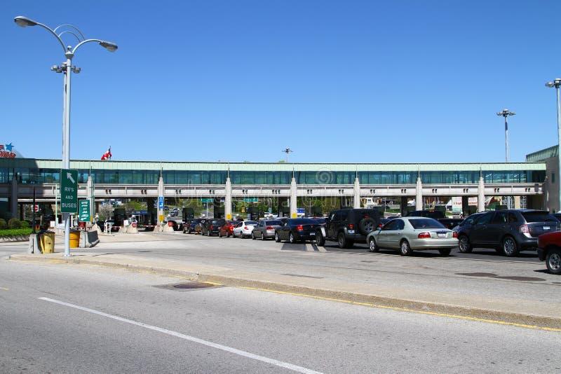 Passagem fronteiriça canadense fotos de stock