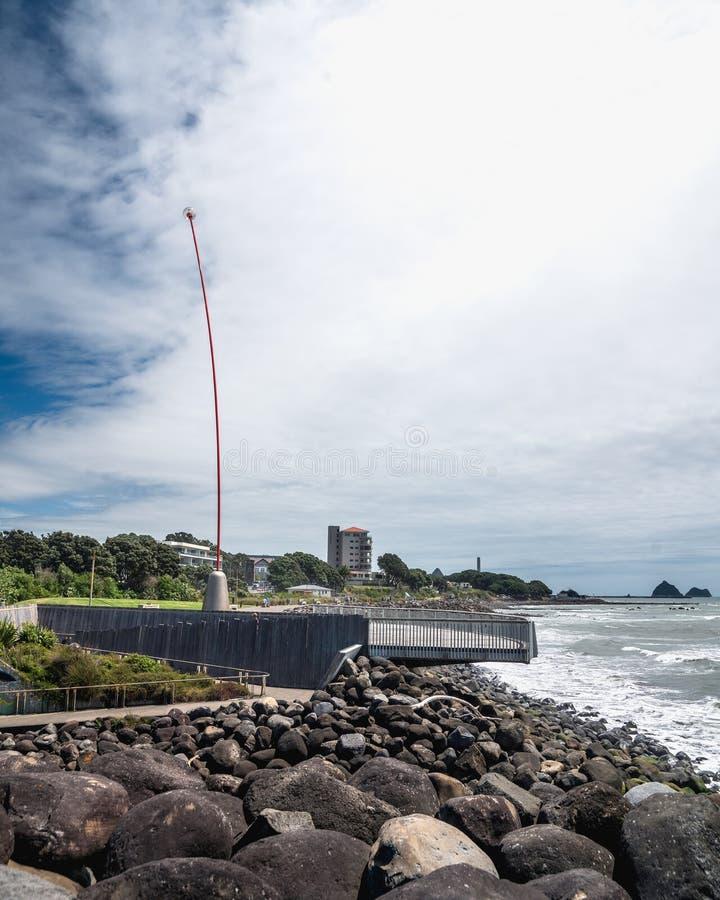 Passagem litoral, passeio em Plymouth novo, Nova Zelândia fotografia de stock