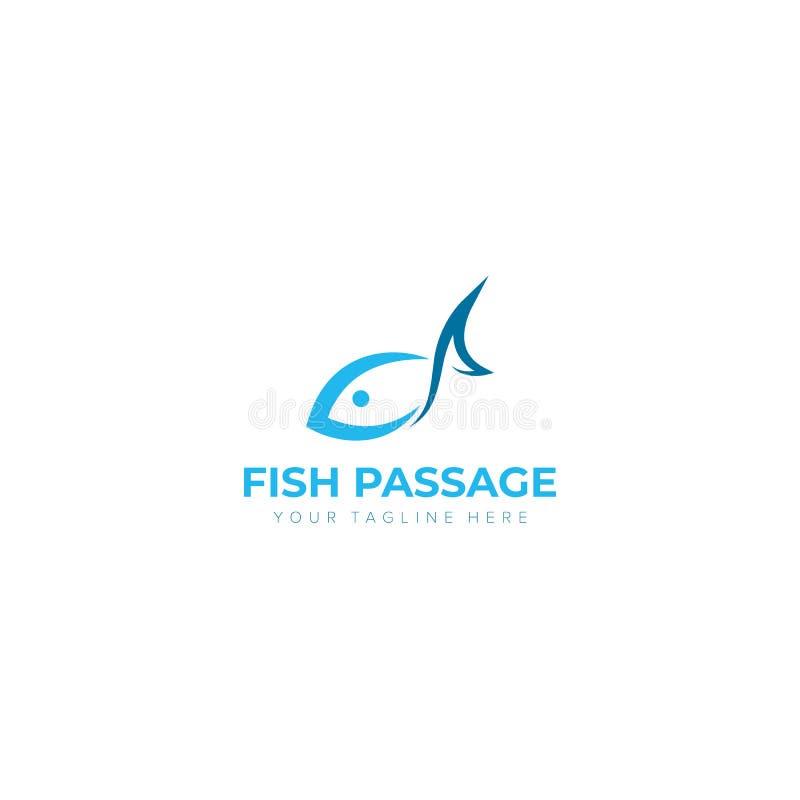 Passagem Logo Designs dos peixes ilustração stock