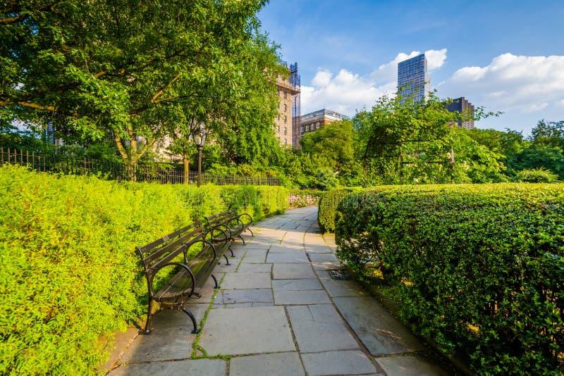 Passagem no jardim conservador, no Central Park, Manhattan, New York City foto de stock royalty free