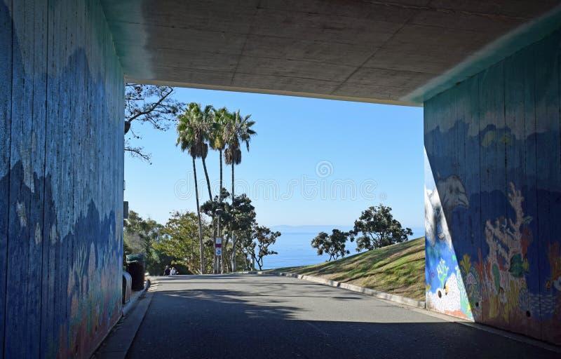 Passagem para salgar o parque da praia da angra em Dana Point, Califórnia imagens de stock
