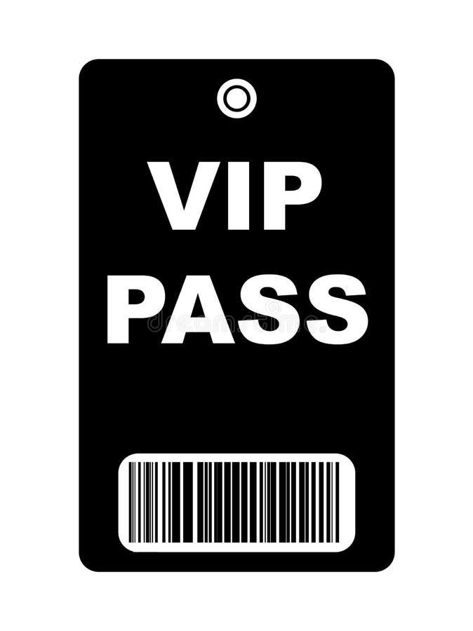 Passagem preta do VIP ilustração royalty free