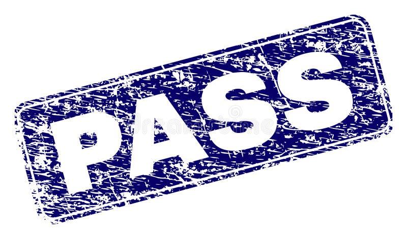 A PASSAGEM riscada moldou o selo arredondado do retângulo ilustração do vetor