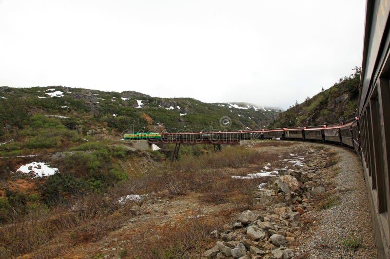 Passagem & rota brancas de Yukon fotos de stock