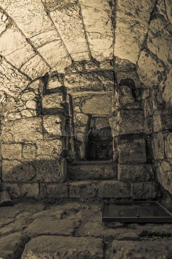 Passagem secreta do túnel ocidental da parede foto de stock royalty free