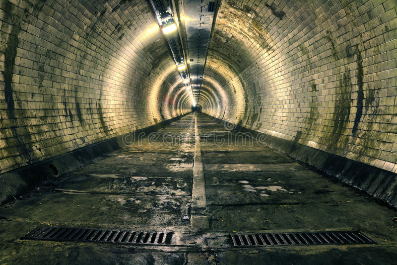 Passagem subterrânea de Greenwich fotografia de stock