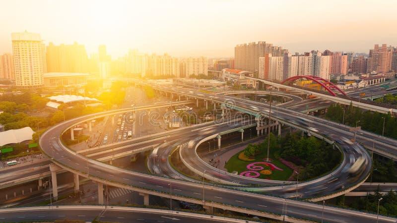 Passagem superior de Shanghai foto de stock