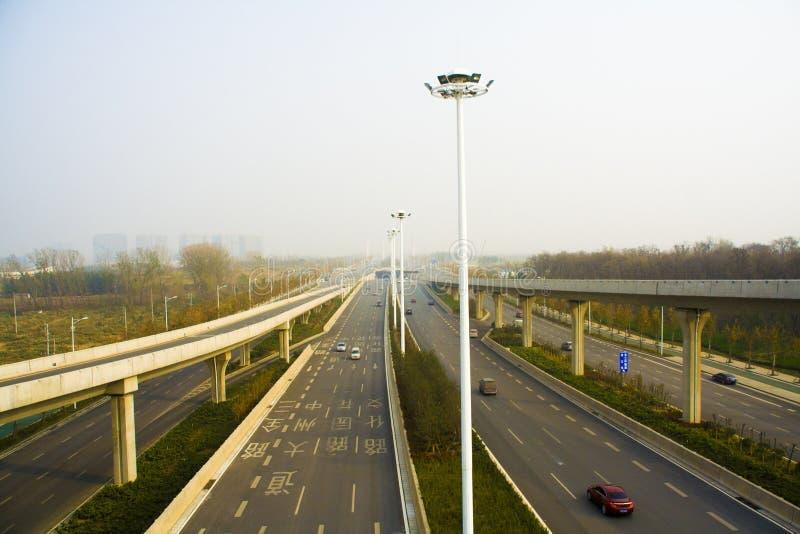 Passagem superior norte do anel de Zhengzhou terceira fotografia de stock