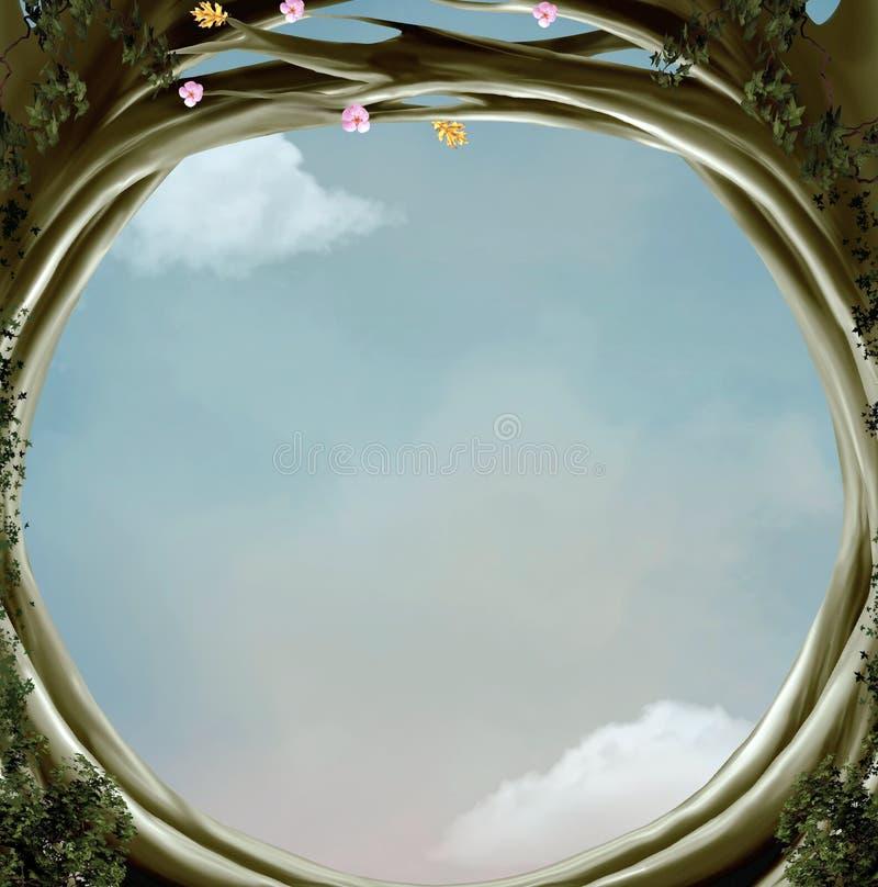 Passagem surreal à natureza místico ilustração do vetor