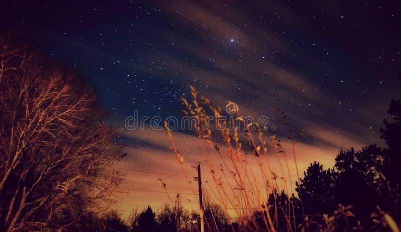 Passagens da noite imagem de stock