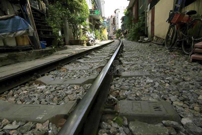 Passagens de estrada de ferro na cidade fotos de stock royalty free