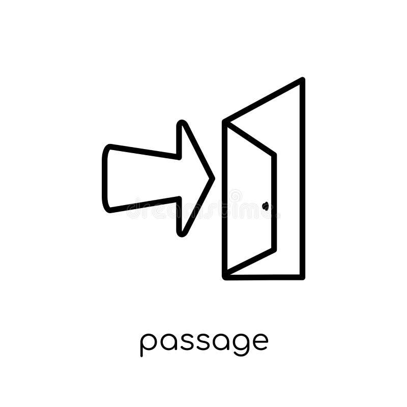 passagepictogram In modern vlak lineair vectorpassagepictogram op w royalty-vrije illustratie