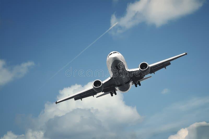 passager d'atterrissage d'avion photographie stock libre de droits