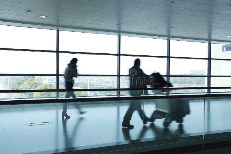 Passager dans l'aéroport photographie stock