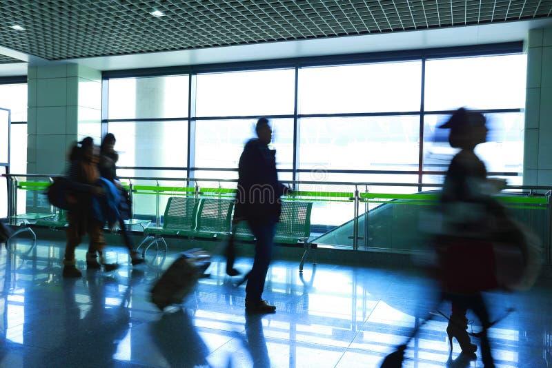 Passager dans l'aéroport image libre de droits