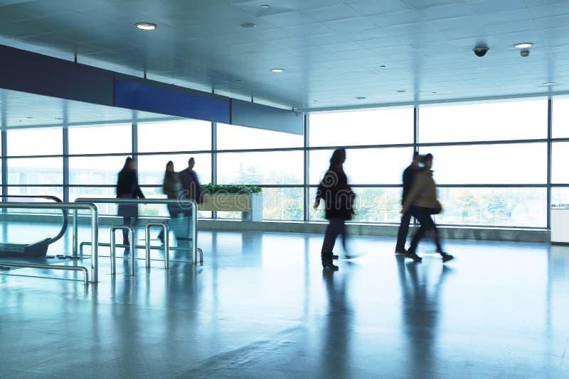 Passager dans l'aéroport photo stock