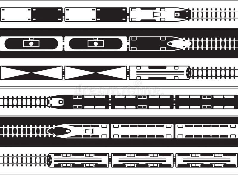 Passagerare och järnväg trans. för frakter från över royaltyfri illustrationer
