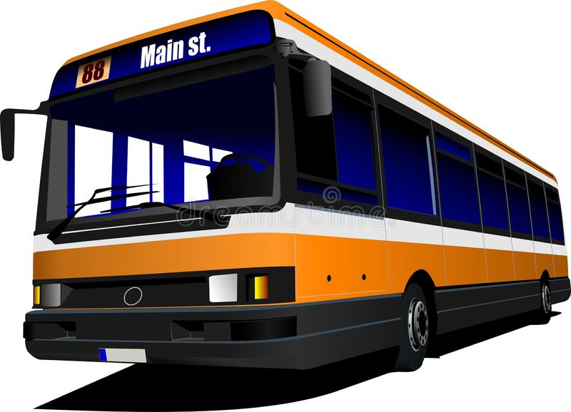 Passagerarebuss p? huvudv?gen royaltyfri illustrationer