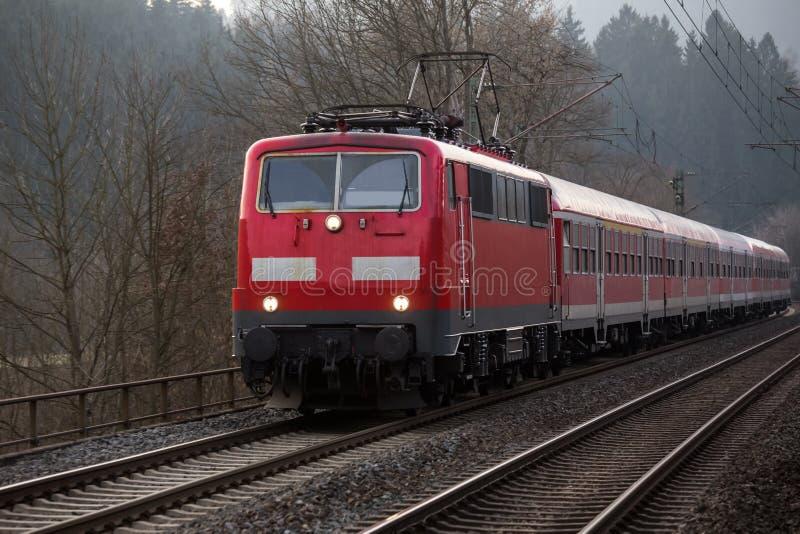 Passageraredrev för tysk järnväg royaltyfria foton
