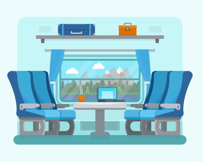 Passageraredrev inom stock illustrationer