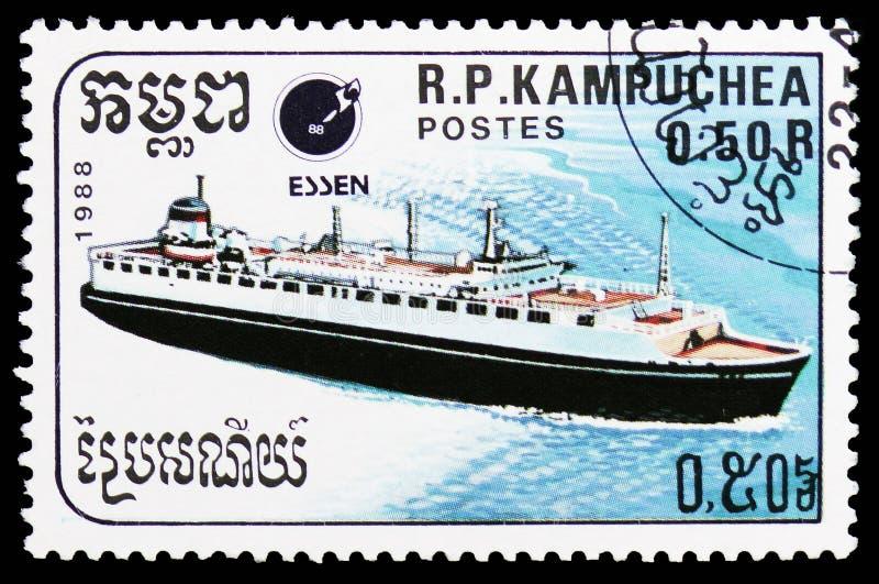 Passagerareeyeliner, skeppserie, circa 1988 fotografering för bildbyråer