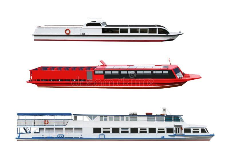 Passageraremotorskepp vektor illustrationer