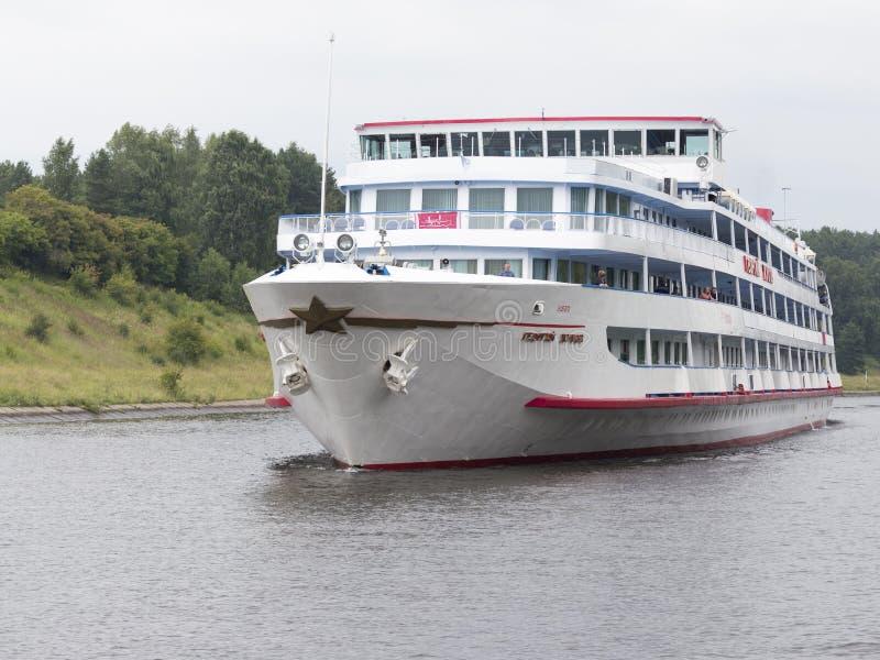 Passagerareskepp Georgy Zhukov royaltyfri fotografi