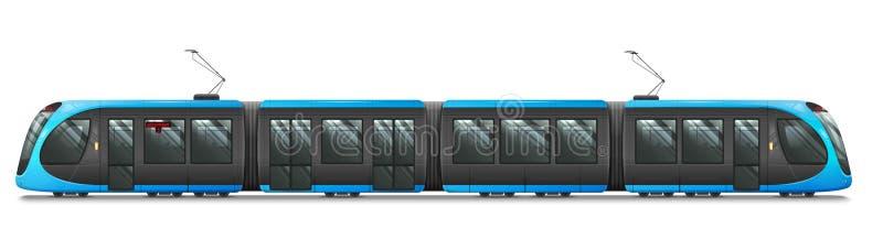 Passagerarespårvagndrev, spårvagn Modern stads- Tramcar royaltyfri illustrationer