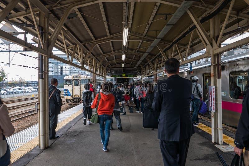 Download Passagers à La Station De Hirosaki Image stock éditorial - Image du transport, signage: 76088079