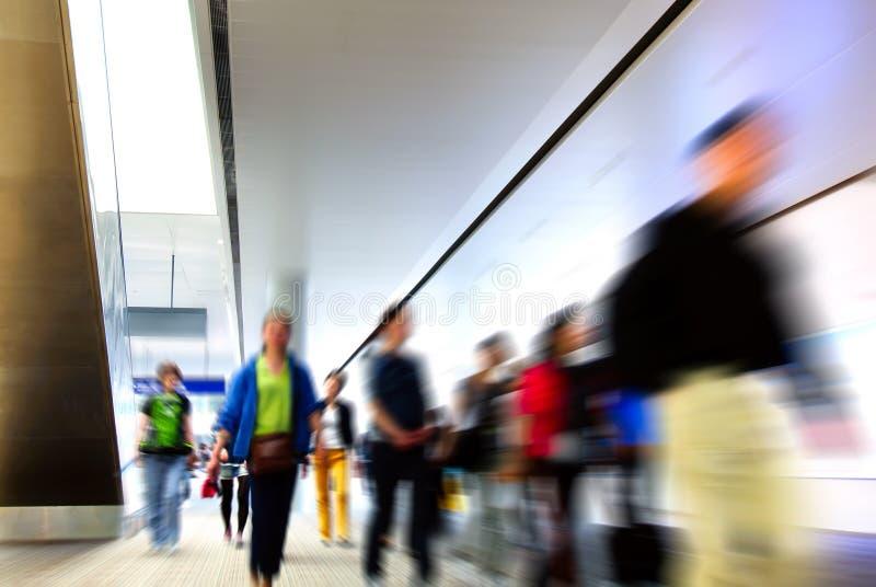 Passagers d'aéroport de Changhaï Pudong photo libre de droits