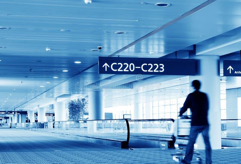 Passagers d'aéroport de Changhaï Pudong images libres de droits