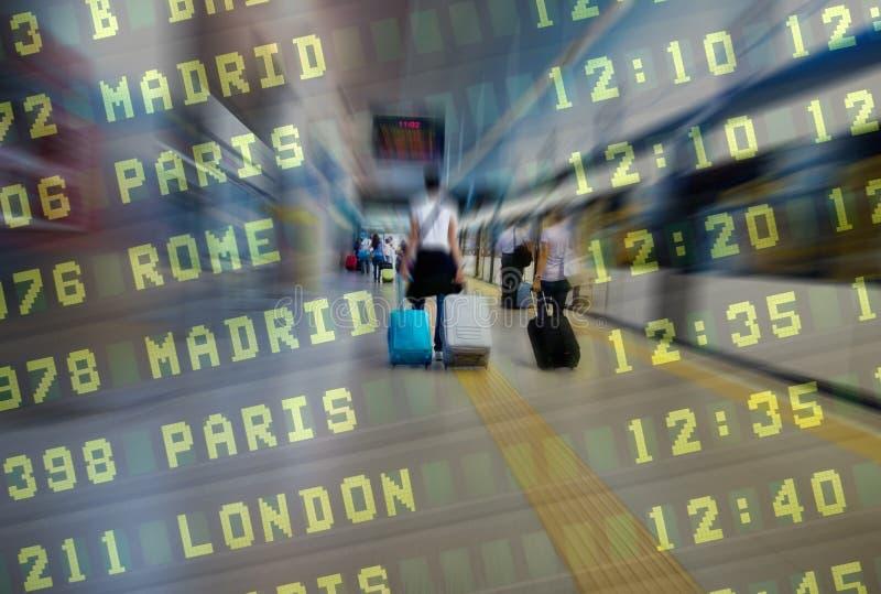 Passagers de compagnie aérienne images stock