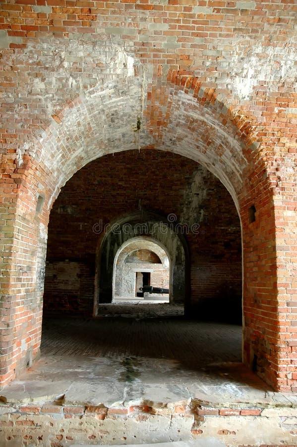Passages arqué au fort Morgan photographie stock