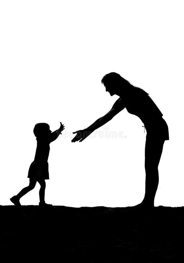 Passages d'enfant à la mère illustration de vecteur