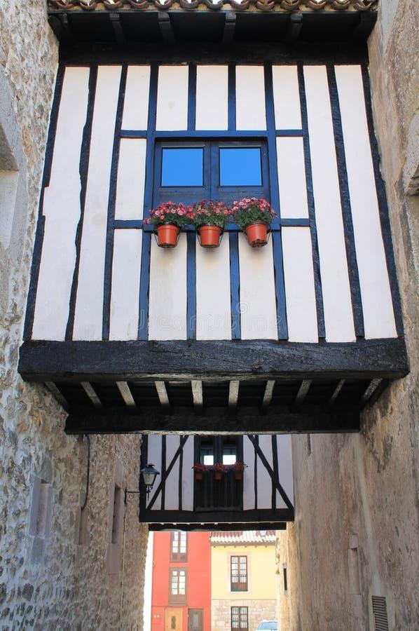 Passages, Llanes, Spanje stock foto's
