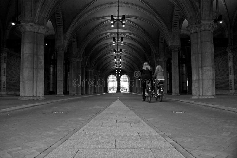 Passageway at Rijksmuseum stock photo