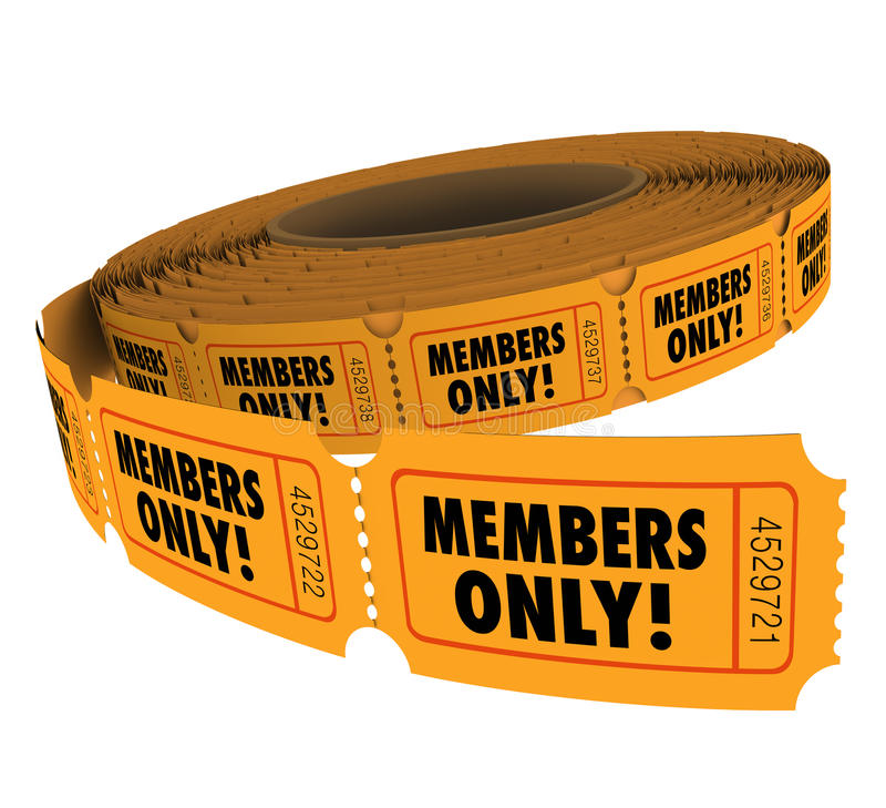 Passaggi esclusivi di evento di Access del gruppo del rotolo VIP del biglietto dei membri soltanto royalty illustrazione gratis