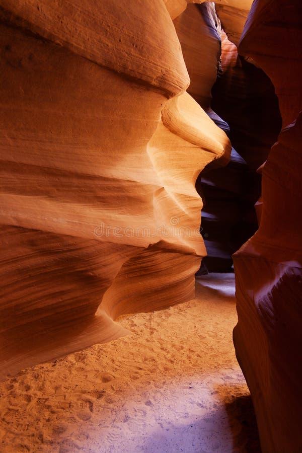 Passaggio in canyon più basso dell'antilope, pagina, Arizona fotografie stock libere da diritti