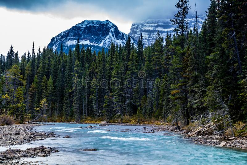 Passaggio del vermiglio, parco nazionale di Banff, Alberta, Canada immagine stock libera da diritti