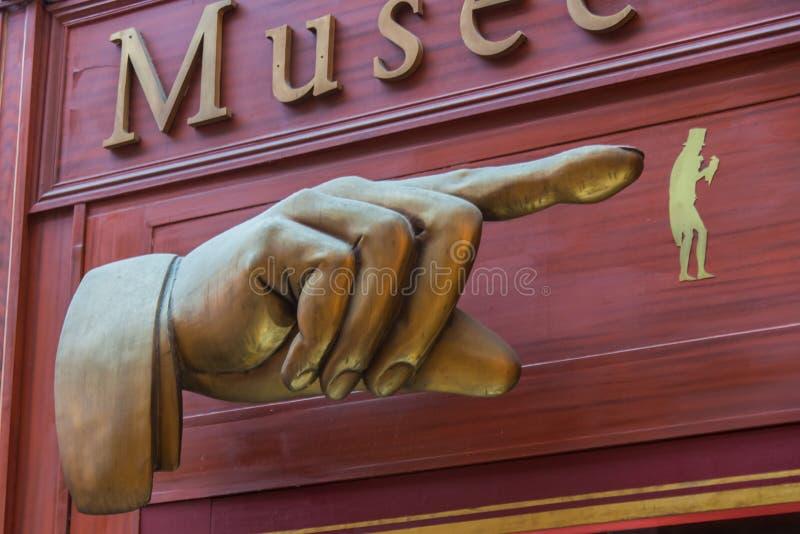 Passaggio dello schermo di Musée Grévin a Parigi fotografie stock libere da diritti