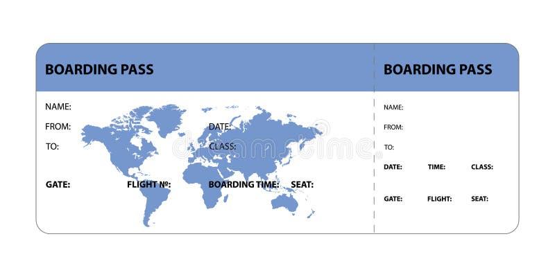 Passaggio di imbarco blu illustrazione di stock