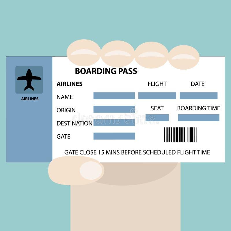 Passaggio di imbarco disponibile illustrazione vettoriale