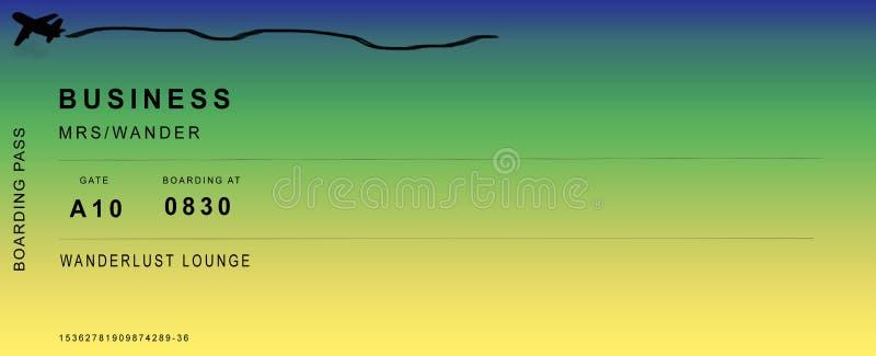 Passaggio di imbarco variopinto illustrazione vettoriale