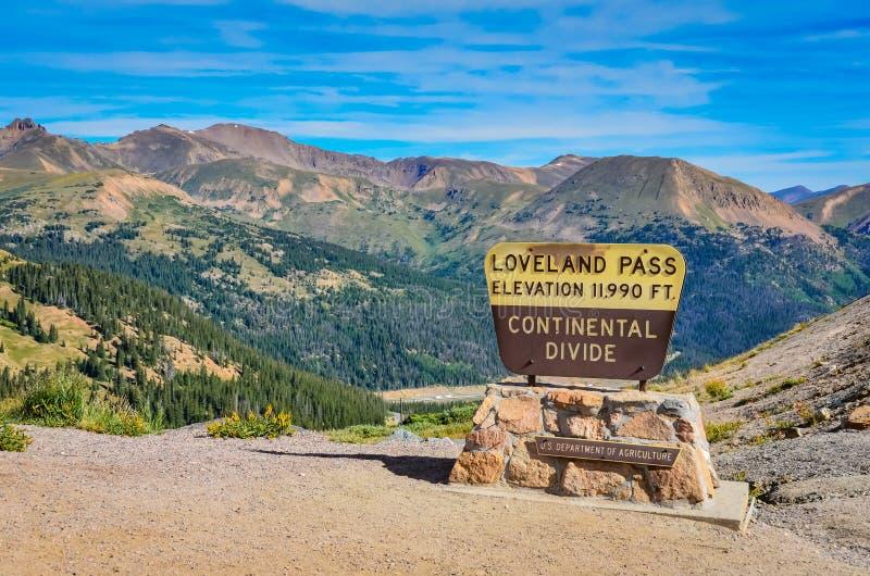 Passaggio di loveland colorado immagine stock immagine for Piani di coperta ad alta elevazione