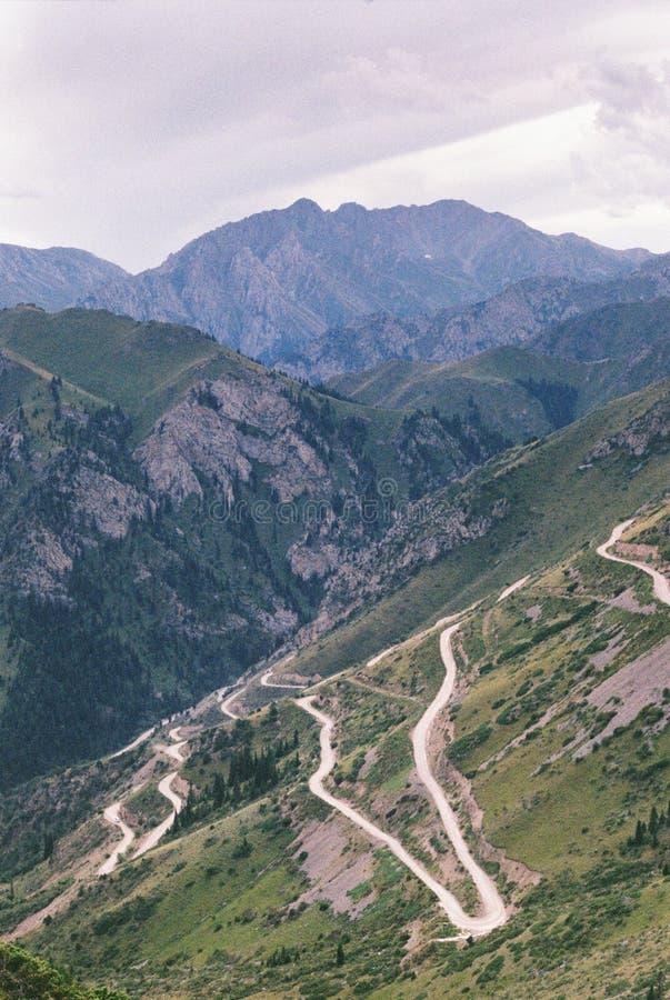 Passaggio di Moldo-Ashuu, Naryn, Kirghizistan fotografia stock libera da diritti