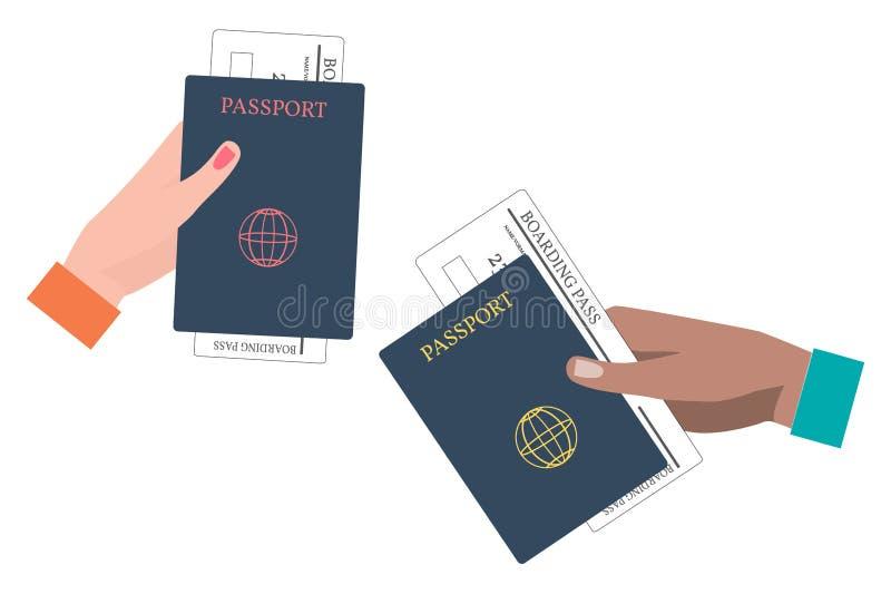 Passaggio e passaporto di imbarco illustrazione vettoriale