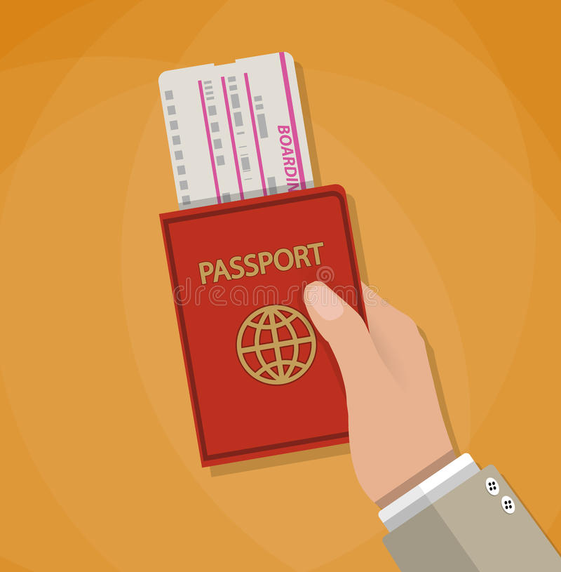 Passaggio e passaporto di imbarco a disposizione royalty illustrazione gratis