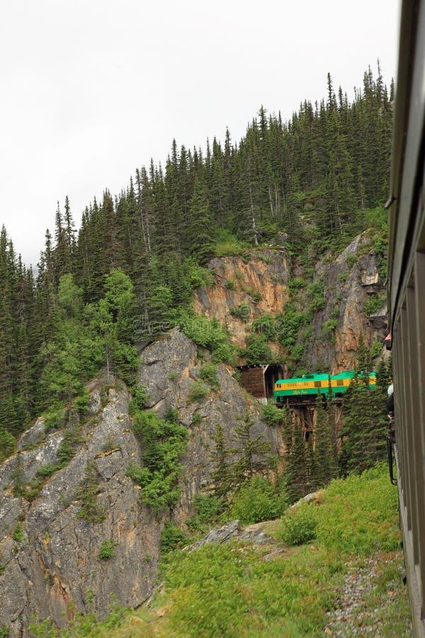 Passaggio & itinerario bianchi del Yukon immagini stock libere da diritti