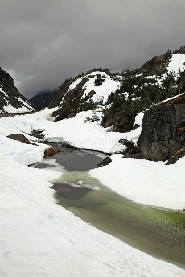 Passaggio & itinerario bianchi del Yukon immagine stock libera da diritti