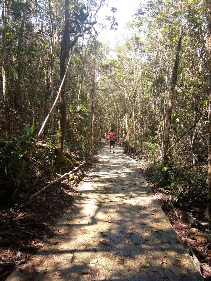 Passaggio pedonale alla collina di Silam fotografie stock libere da diritti